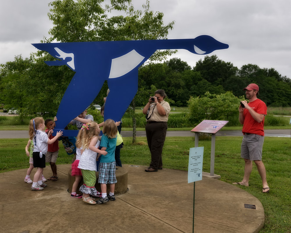 Children learn about bird migration turning the Blue Goose at Black Bayou Lake National Wildlife Refuge
